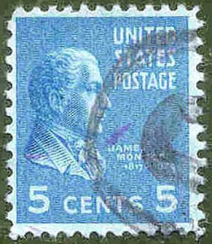 023 USA - United States Postage - Wert 5 Cents - James Mon...