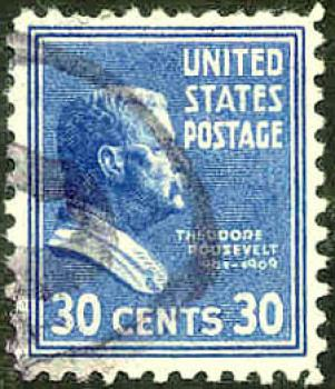 032 USA - United States Postage - Wert 30 Cents - Theodore Roosevelt 1901-1909
