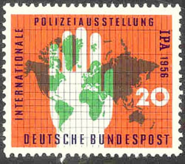 086 Deutsche Bundespost - Wert 20 - Internationale Polizeiausstellung IPA