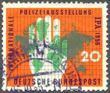 087 Deutsche Bundespost - Wert 20 - Internationale Polizeiausstellung IPA