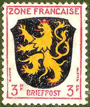 013 Briefpost - Wert 3 PF - Zone Francaise