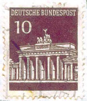 044 Deutsche Bundespost - Wert 10 - Brandenburger Tor