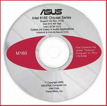 CD - Asus - Intel 815E Chipset Series