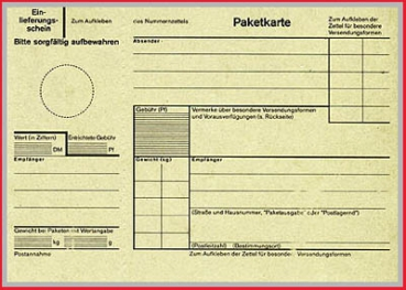 Paketkarte (1) - Deutsche Post - Original